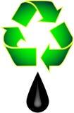 Recicl o petróleo ilustração stock