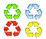 Recicl o símbolo 11 ilustração stock