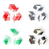 Recicl o símbolo 3d Foto de Stock