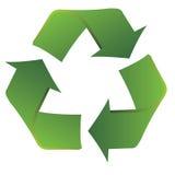 Recicl o símbolo com linhas fluidas lisas Fotografia de Stock