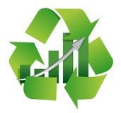 Recicl o símbolo com uma carta de barra no centro Fotografia de Stock Royalty Free