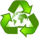 Recicl o símbolo do planeta ilustração stock