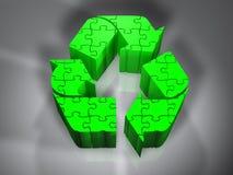 Recicl o símbolo - enigma - 3D Fotos de Stock