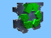 Recicl o símbolo - enigma - 3D Foto de Stock