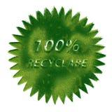 Recicl o símbolo feito da grama Fotos de Stock Royalty Free
