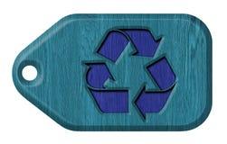 Recicl o símbolo tag Imagem de Stock Royalty Free