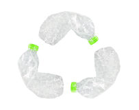 Recicl o sinal das garrafas Imagens de Stock