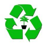 Recicl o sinal e a árvore Foto de Stock