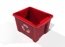 Recicl o vermelho do escaninho ilustração royalty free