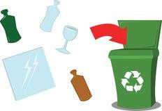 Recicl o vidro ilustração stock