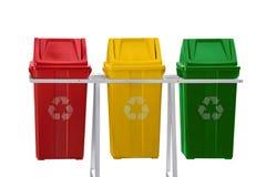 Recicl os escaninhos isolados Imagens de Stock