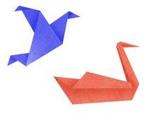 Recicl os pássaros de papel Foto de Stock Royalty Free