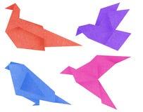 Recicl os pássaros de papel Fotografia de Stock