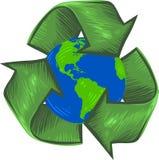 Recicl para a terra Foto de Stock