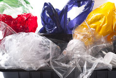 Recicl plástico imagens de stock