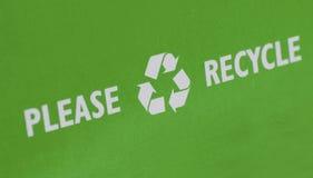 Recicl pode conservar a terra Imagem de Stock Royalty Free
