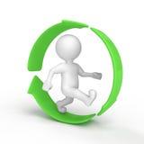 Recicl por favor Imagem de Stock