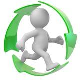 Recicl por favor ilustração royalty free
