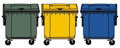 Recicl recipientes Imagens de Stock