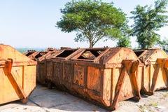 Recicl recipientes Fotografia de Stock