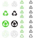 Recicl símbolos Fotos de Stock