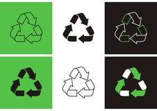Recicl símbolos Imagem de Stock Royalty Free