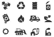 Recicl símbolos Fotografia de Stock