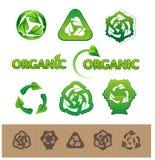 Recicl símbolos e etiquetas Fotografia de Stock
