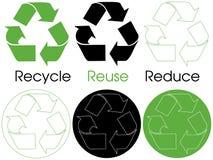 Recicl símbolos Imagens de Stock