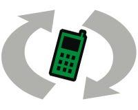 Recicl telefones de pilha Fotos de Stock