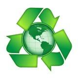 Recicl a terra Imagem de Stock Royalty Free