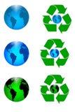 Recicl a terra Fotografia de Stock Royalty Free