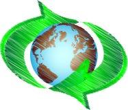 Recicl a terra Ilustração Stock