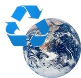 Recicl a terra Fotografia de Stock