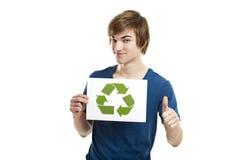 Recicl a um mundo melhor Fotografia de Stock Royalty Free