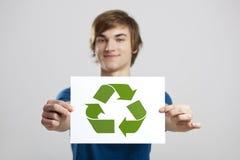 Recicl a um mundo melhor Imagem de Stock