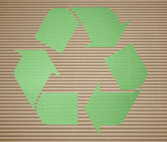 Recicl verde Imagem de Stock Royalty Free