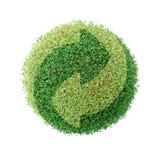 Recicl verde do globo imagem de stock