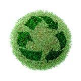Recicl verde do globo Imagens de Stock Royalty Free