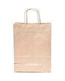 Reciclable; bolsa de papel marrón reutilizable Fotografía de archivo