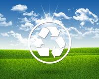 Reciclagem branca do símbolo Imagem de Stock