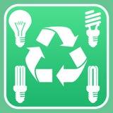 Reciclagem da ampola Foto de Stock Royalty Free