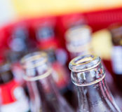 Reciclagem das garrafas Imagens de Stock