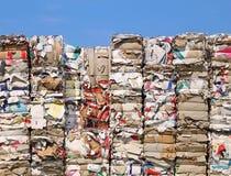 Reciclagem de papel Fotografia de Stock Royalty Free