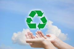 Reciclagem do apoio Imagem de Stock