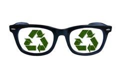 Reciclagem dos vidros Imagem de Stock