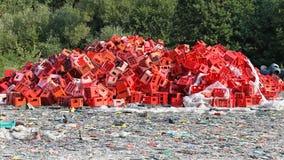 Reciclagem plástica Foto de Stock