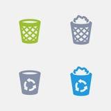 Reciclagens - ícones do granito ilustração royalty free