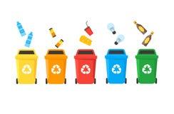 Reciclagens ajustadas Vetor ilustração do vetor