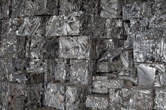 Reciclaje de aluminio Fotografía de archivo libre de regalías